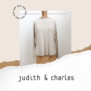 Judith & Charles 100% linen sweater
